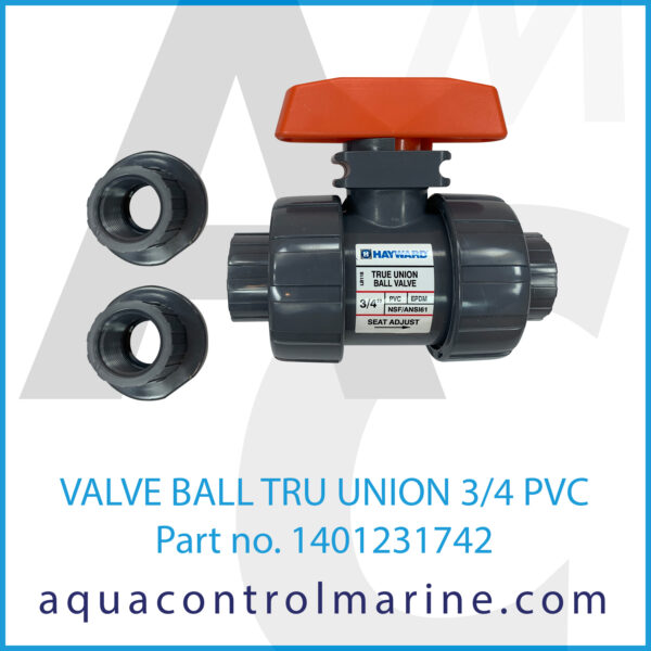 VALVE BALL TRU UNION 3_4 PVC