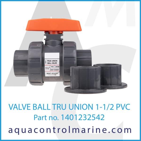 VALVE BALL TRU UNION 1-1_2 PVC