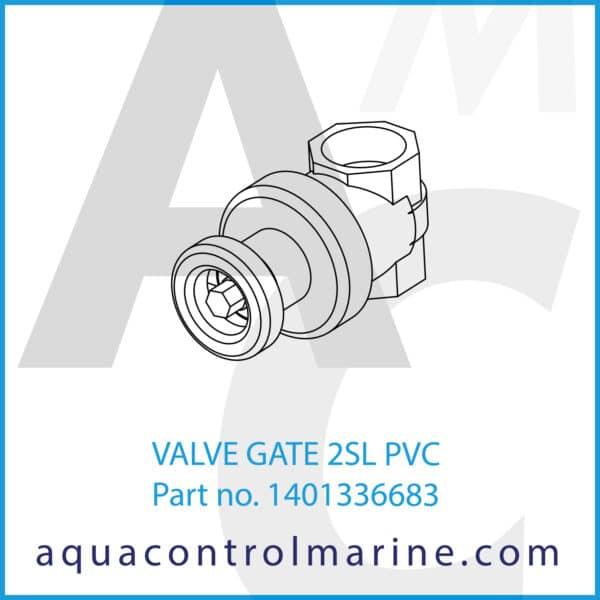 VALVE GATE 2SL PVC