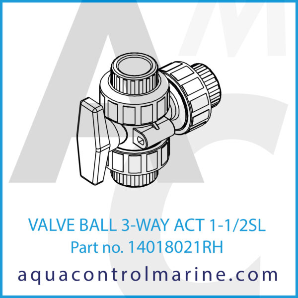 VALVE BALL 3-WAY ACT 1-1_2SL