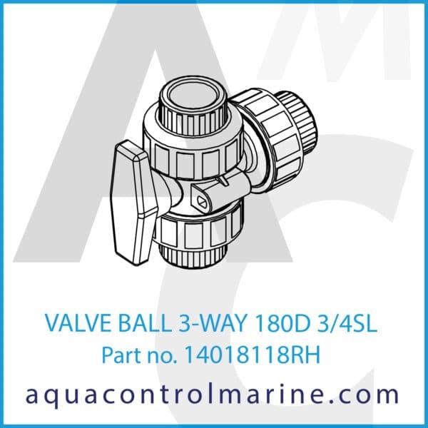VALVE BALL 3-WAY 180D 3_4SL