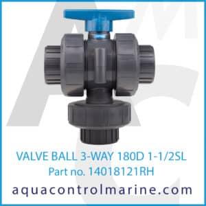 VALVE BALL 3-WAY 180D 1-1_2SL