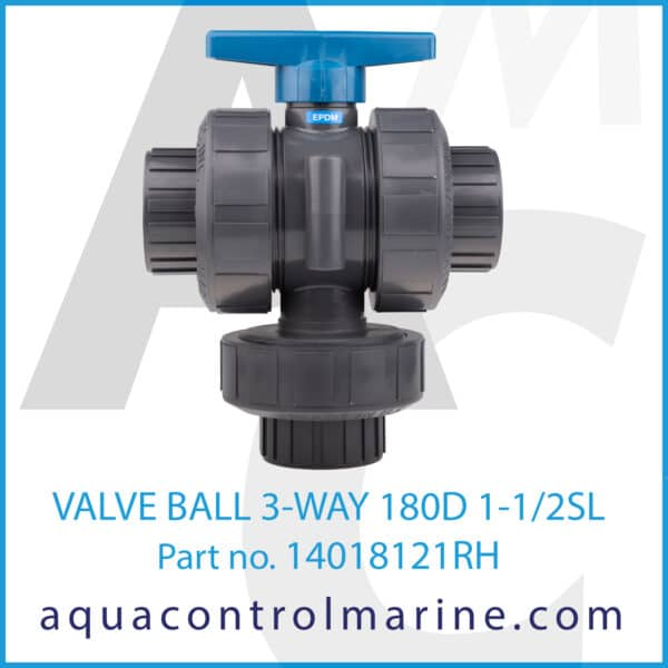 VALVE BALL 3-WAY 180D 1-1_2SL