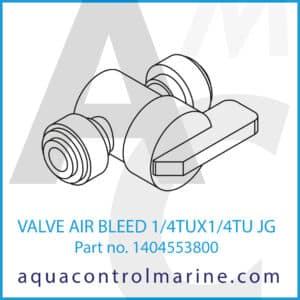 VALVE AIR BLEED 1_4TUX1_4TU JG