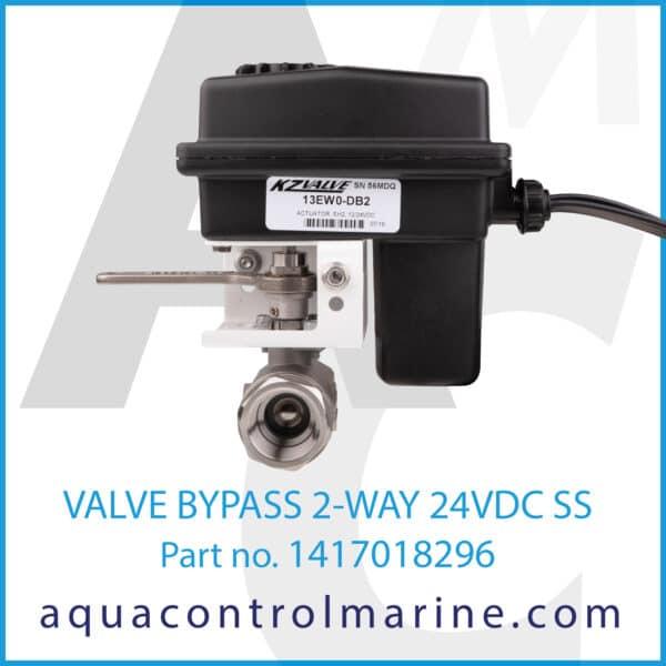VALVE BYPASS 2-WAY 24VDC SS