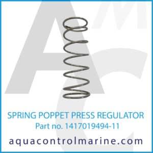 SPRING POPPET PRESS REGULATOR