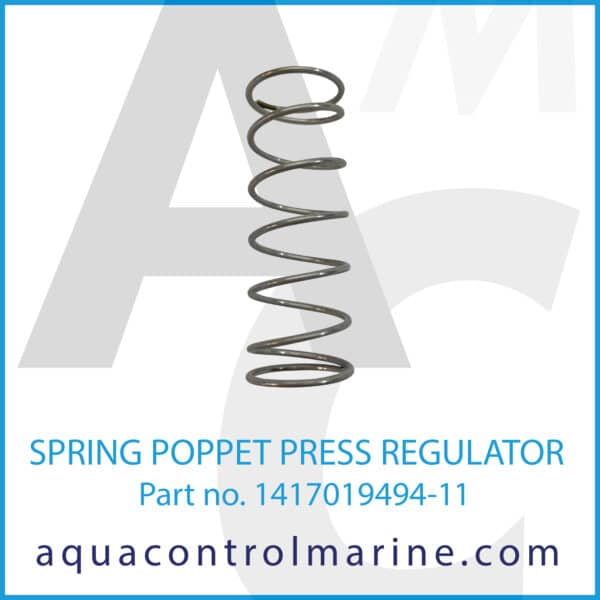 SPRING POPPET PRESS REGULATOR