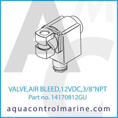 """VALVE AIRBLEED 12 VDC 3/8""""NPT"""