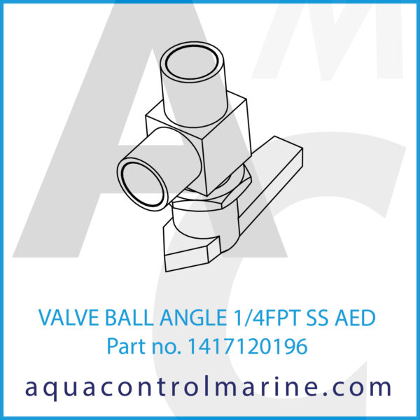 VALVE BALL ANGLE 1_4FPT SS AED