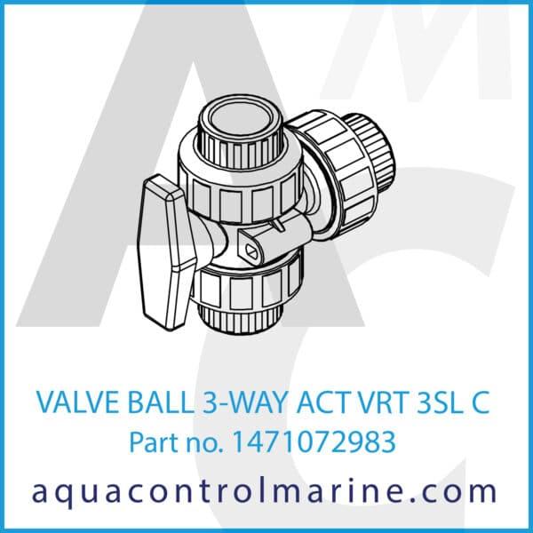 VALVE BALL 3-WAY ACT VRT 3SL C