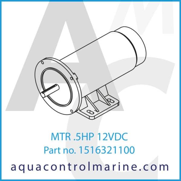 MTR .5HP 12VDC