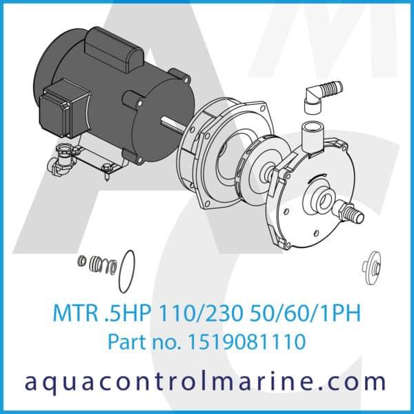 MTR .5HP 110_230 50_60_1PH