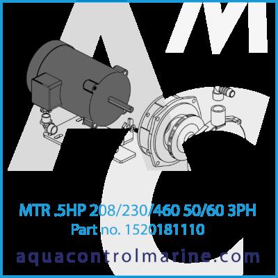 MTR .5HP 208/230/460 50-60-3PH