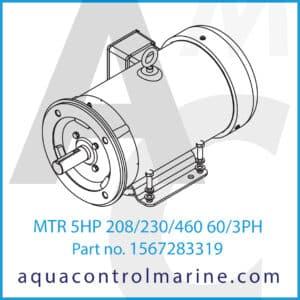 MTR 5HP 208_230_460 60_3PH