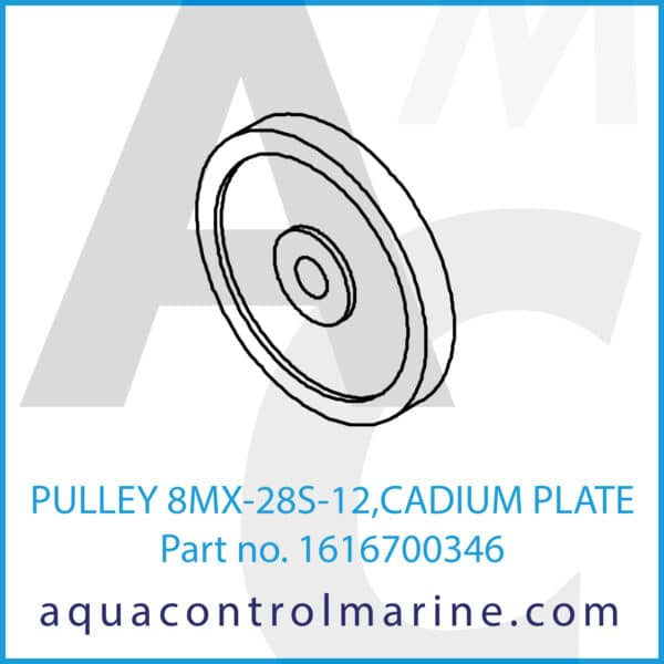 PULLEY 8MX-28S-12,CADIUM PLATE