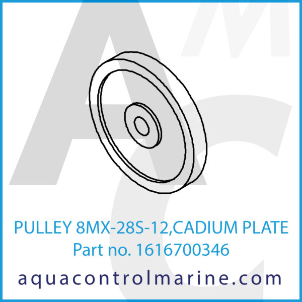 PULLEY 8MX-28S-12,CADIUM PLATE