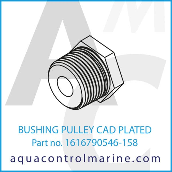 BUSHING PULLEY CAD PLATED