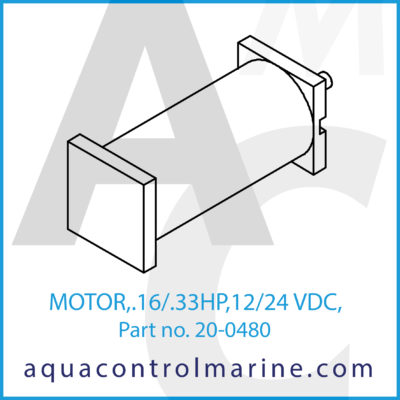 MOTOR .16/.33HP 12/24 VDC