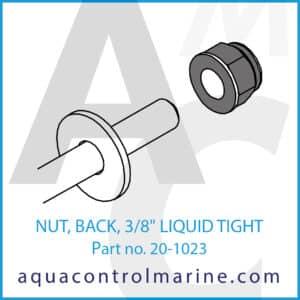 NUT, BACK, 3_8 inch LIQUID TIGHT