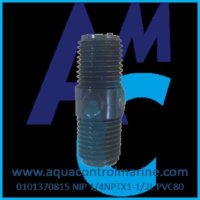 NIP 1/4NPTX1-1/2L PVC80