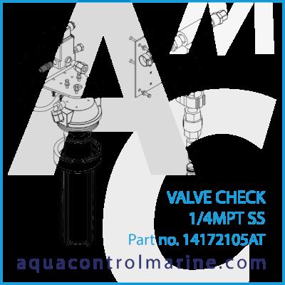 14172105AT - VALVE CHECK 1_4MPT SS - part