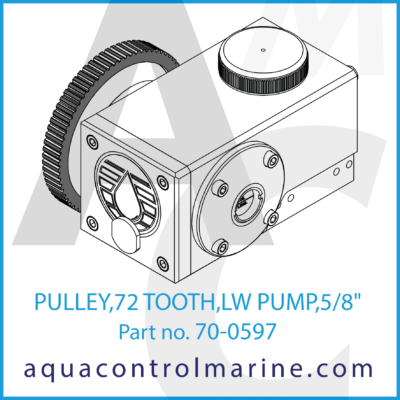 PULLEY 72 TOOTH LW PUMP 5/8 INCH