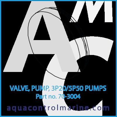 VALVE PUMP 3P20/5P50 PUMPS