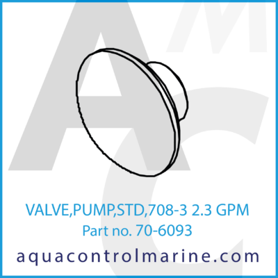 VALVE PUMP STD 708-1/3 2.3 GPM