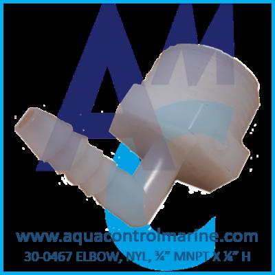 "ELBOW NYL 3/4"" MNPT X 1/4"" H"