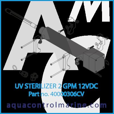 40000306CV - UV STERILIZER 2 GPM 12VDC