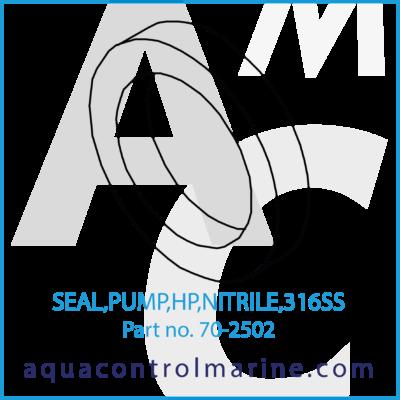 SEAL PUMP HP NITRILE 316SS