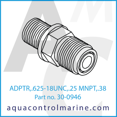 ADPTR .625-18UNC .25 MNPT .38