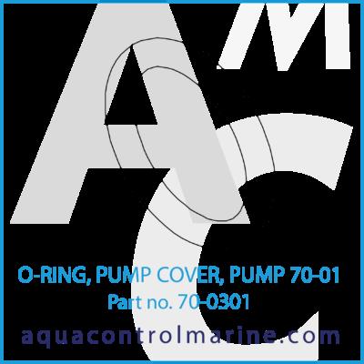 O-RING PUMP COVER PUMP 70-0145 & 70-0146