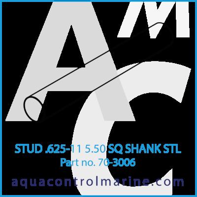 STUD .625-11 5.50 SQ SHANK STL