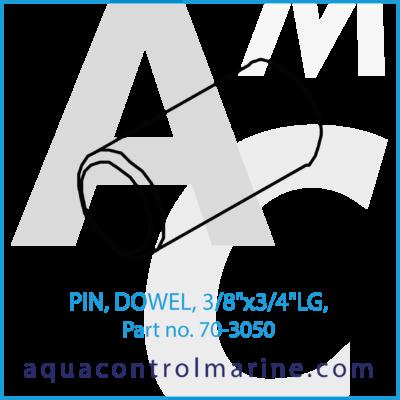 "PIN DOWEL 3/8""x3/4""LG"