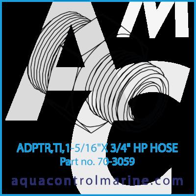 """ADPTR TI 1-5/16""""X 3/4"""" HP HOSE"""