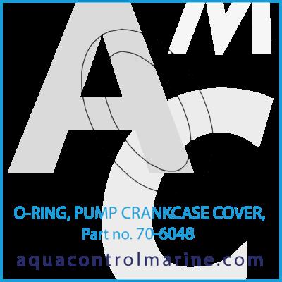 O-RING PUMP CRANKCASE COVER 708-1 PUMPS