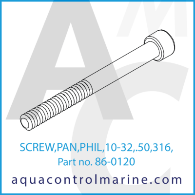 SCREW PAN PHIL 10-32 .50 316