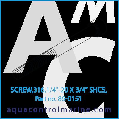SCREW 316 1/4 inch 20 X 3/4 inch SHCS