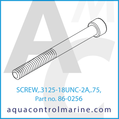 SCREW .3125-18UNC-2A .75