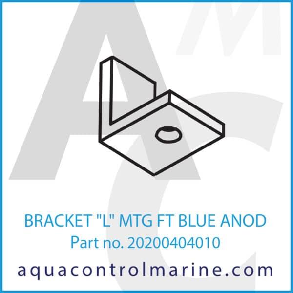 BRACKET L MTG FT BLUE ANOD