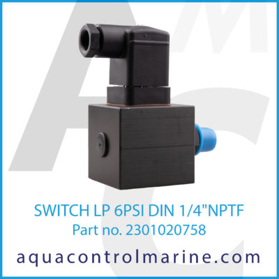 "SWITCH LP 6PSI DIN 1/4"" NPTF"