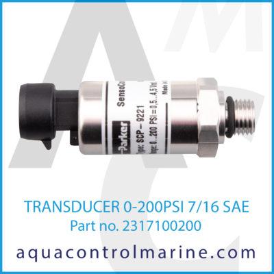 TRANSDUCER 0-200PSI 7/16 SAE
