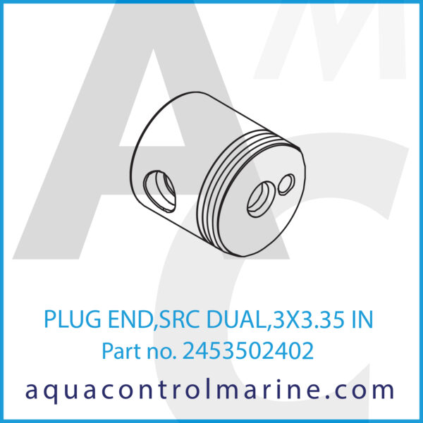 PLUG END,SRC DUAL,3X3.35 IN