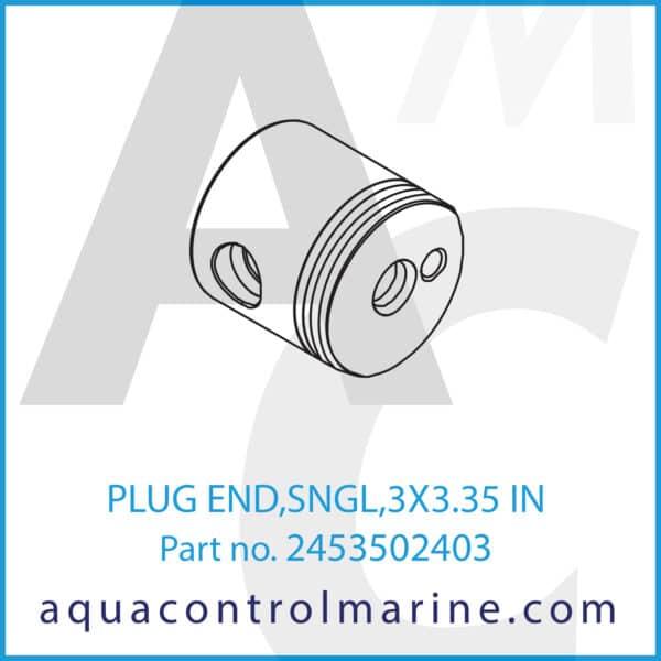 PLUG END,SNGL,3X3.35 IN