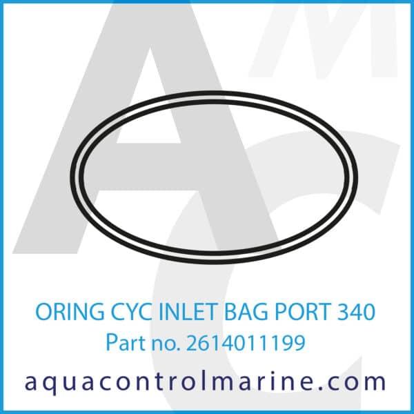 ORING CYC INLET BAG PORT 340