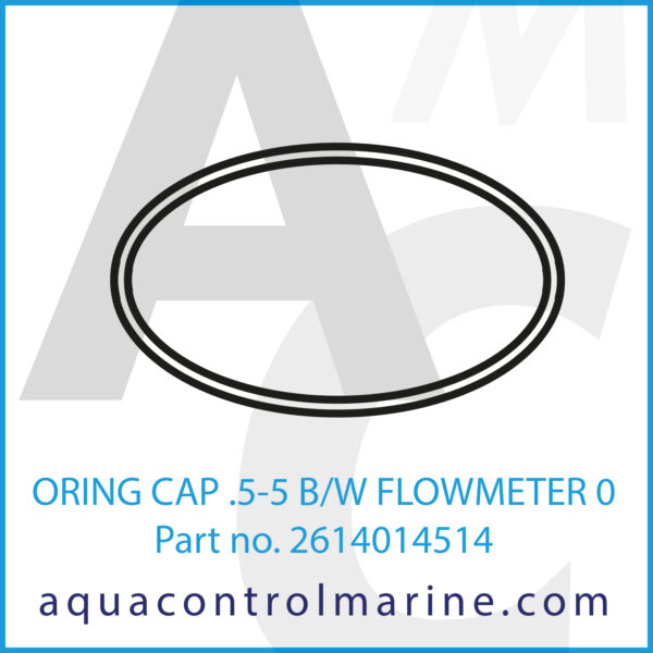 ORING CAP .5-5 B_W FLOWMETER 0