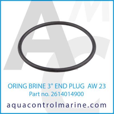 """O-RING BRINE 3"""" END PLUG AW 23"""