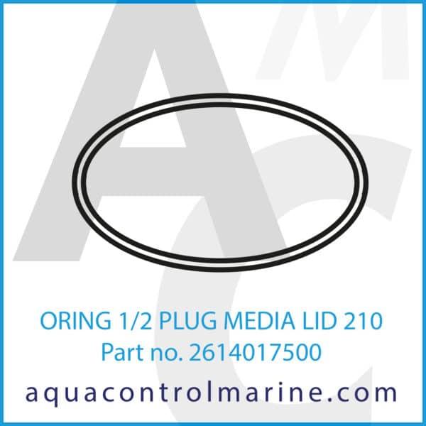 ORING 1_2 PLUG MEDIA LID 210