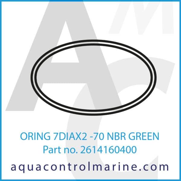 ORING 7DIAX2 -70 NBR GREEN